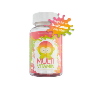 Monkids Multivitamin D-vitamin dagsdos