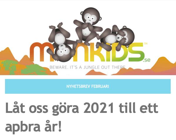 Monkids nyhetsbrev februari 2021